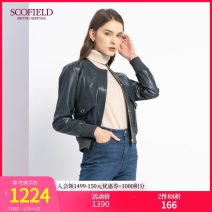 leather clothing SCOFIELD Winter 2020 155 160 170 175 165 green routine Long sleeves Straight cylinder commute zipper other SFJLA4901Q PU 30-34 years old PU Same model in shopping mall (sold online and offline)