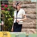 Dress Summer 2020 ivory 155 160 170 175 165 Middle-skirt singleton  Short sleeve commute other other zipper routine 30-34 years old SCOFIELD More than 95% polyester fiber Polyester 100% Same model in shopping mall (sold online and offline)