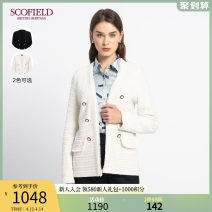sweater Winter 2020 155 160 170 175 165 Ivory white black Long sleeves Cardigan singleton  Regular acrylic fibres 31% (inclusive) - 50% (inclusive) V-neck Regular commute Solid color Straight cylinder 30-34 years old SCOFIELD SFCKA4T01Q Polyacrylonitrile (acrylic) 48% wool 47% polyester 4% others 1%