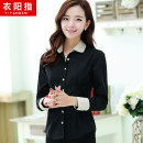 shirt S M L XL 2XL 3XL Summer of 2018 cotton 31% (inclusive) - 50% (inclusive) Long sleeves Versatile Regular Doll Collar Single row multi button puff sleeve Solid color 25-29 years old Self cultivation Yi Yang Zhi