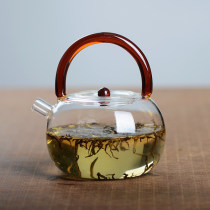 teapot Heat resistant glass other Handmade yes Self made pictures 780ml red 780ml transparent 780ml green 780ml amber 780ml blue 780ml white square handle 780ml amber square handle See description 701ml (including) - 800ml (including) w-001 Chinese style Idyllic 0.5kg zero point zero one