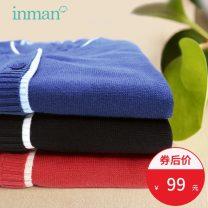 sweater Spring 2021 S M L XL XXL Indigo blue rust red Midnight Black Long sleeves Cardigan singleton  Regular cotton 81% (inclusive) - 90% (inclusive) V-neck Thin money commute routine other Self cultivation Regular wool Keep warm and warm 25-29 years old Inman / Inman cotton Single breasted cotton