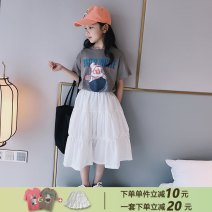 skirt 120cm 130cm 140cm 150cm 160cm 165cm Light gray Pink (130 yards pre-sale) fairy white (pre-sale in mid April) AI shangduo female Other 100% summer skirt leisure time Solid color Cake skirt other ZC20BSQ002 Class B Spring 2021