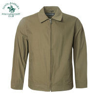 Jacket SANTA BARBARA POLO & racket club / St. Paul Fashion City routine easy Other leisure spring Cotton 100% Long sleeves Wear out Lapel American leisure middle age routine Zipper placket Straight hem No iron treatment Closing sleeve Solid color Spring of 2019 Side seam pocket cotton More than 95%
