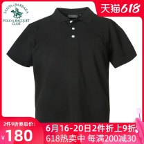 T-shirt PS18KT351 Cotton 100% Spring 2018 Same model in shopping malls (both online and offline) Business gentleman International brands easy summer Short sleeve routine daily SANTA BARBARA POLO & racket club / St. Paul Lapel routine Business Casual middle age cotton Solid color Button decoration