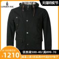 Jacket London fog Fashion City Black Z9 thick easy Other leisure autumn Polyester 100% Long sleeves Wear out Hood Business Casual youth routine Zipper placket Straight hem No iron treatment Loose cuff polyester fiber Autumn of 2018 More than two bags) Digging bags with lids polyester fiber