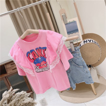 T-shirt Single lace t Other / other 110cm / tag 110120cm / tag 120130cm / tag 130140cm / tag 140150cm / tag 150160cm / tag 160 female summer Short sleeve Crew neck girl No model nothing other letter Other 100% other 2, 3, 4, 5, 6, 7, 8, 9, 10, 11, 12 years old Chinese Mainland Lace