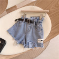 trousers Other / other female One piece denim shorts summer shorts Europe and America No model Jeans Leather belt middle-waisted Cotton denim Don't open the crotch Other 100% other Three, four, five, six, seven, eight, nine, ten, eleven, twelve Chinese Mainland