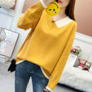 Women's large Spring 2021 Blue yellow red black XL【100 - 125 Jin] 2XL [125 Jin] - 150 kg] 3XL [150 kg] - 175 kg] 4XL [175 kg] - 200 Jin] sweater singleton  commute easy moderate Socket Long sleeves Korean version V-neck other routine Durani Other 100% Pure e-commerce (online only)