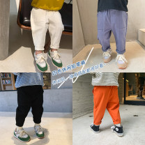 trousers Other / other neutral 80cm,90cm,100cm,110cm,120cm,130cm White, black, blue, orange spring and autumn trousers Korean version There are models in the real shooting Casual pants Leather belt middle-waisted cotton Open crotch Class B 4-color pencil casual pants