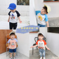 T-shirt Black, sky blue, orange, pink Other / other 80cm,90cm,100cm,110cm,120cm,130cm neutral summer Short sleeve Crew neck Korean version There are models in the real shooting nothing cotton Cartoon animation Cotton 95% other 5% Class A