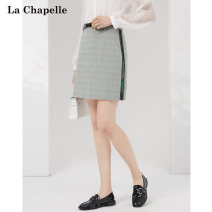 skirt Spring 2021 S M L Light gray check (in stock) Short skirt commute Natural waist A-line skirt lattice Type A 25-29 years old 2P1A4020 More than 95% La Chapelle / La chapelle polyester fiber Britain Polyester 97% polyurethane elastic fiber (spandex) 3% Pure e-commerce (online only)