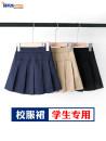 skirt 110cm 120cm 130cm 140cm 150cm 160cm 170cm 180cm Bei Xicheng female Cotton 97% polyurethane elastic fiber (spandex) 3% No season skirt college Solid color Pleats cotton Class B Summer of 2019