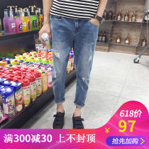 Jeans Youth fashion TiaoTa Thirty-four N88 blue Thin money Micro bomb Thin denim T16N0923 Cotton 96.1% polyester 3.9% Summer 2016 Pure e-commerce (online only)