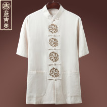 National Costume Langjieao 170/M 175/L 180/XL 185/2XL 190/3XL White black Navy beige Tang costume LGO9396 Cotton 100% summer leisure time middle age other other Three dimensional tailoring Summer of 2018 Pure e-commerce (online only)