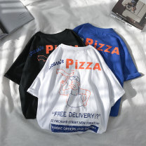 T-shirt Youth fashion White, black, blue routine M L XL 2XL 3XL Mu Austin / mudian Short sleeve Crew neck easy Other leisure summer N55H002T009 Cotton 100% teenagers routine tide other Summer 2020 Alphanumeric other cotton other washing Pure e-commerce (online only) More than 95%