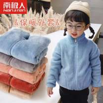 Plain coat NGGGN neutral 100cm 110cm 120cm 130cm 140cm 150cm 90cm Coral warm coat oxygen blue coral warm coat lovely pink coral warm coat honey sauce Red Coral warm coat cat grey coral warm coat cocoa super soft print coat white dot winter leisure time Zipper shirt thickening nothing Crew neck