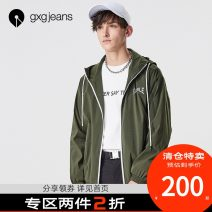 Jacket gxg.jeans Youth fashion Army green 165/S,170/M,175/L,180/XL,185/XXL routine standard Other leisure spring Polyamide fiber (nylon) 93.3% polyurethane elastic fiber (spandex) 6.7% Long sleeves Hood tide youth routine 2018 printing