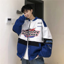 Jacket Vesibo / vesibo Youth fashion Black blue M L XL routine easy Other leisure autumn V-JK0914588 Cotton 90% polyester 5% viscose (viscose) 5% Long sleeves Wear out Baseball collar Exquisite Korean style teenagers routine Single breasted Rib hem No iron treatment Closing sleeve Autumn of 2019