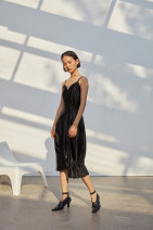 Dress Autumn of 2018 black S. M, C customized (please note the net height of the circumference)