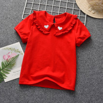T-shirt Other / other 73cm,80cm,90cm,100cm,110cm,120cm,130cm female summer Short sleeve Lapel crew neck No model cotton Solid color Sweat absorption Six months, 12 months, 9 months, 18 months, 2 years old, 3 years old, 4 years old, 5 years old, 6 years old, 7 years old, 8 years old Chinese Mainland