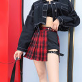 skirt Summer of 2019 XS,S,M,L Red grid, green grid Short skirt street Natural waist Pleated skirt lattice Type A 18-24 years old Tiantian w892 Plaid pleated skirt 81% (inclusive) - 90% (inclusive) other other tie-dyed Europe and America