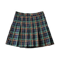 skirt Autumn 2020 XS,S,M,L Green grid, khaki grid Short skirt street High waist Suit skirt lattice Type A 18-24 years old Xx-c033 popular pleated skirt 91% (inclusive) - 95% (inclusive) other other Button, zipper Europe and America
