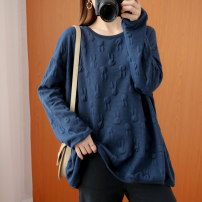 Women's large Spring 2021 Large XL [recommended 100-150 kg] large 2XL [recommended 150-200 kg] large 3XL [recommended 200-250 kg] large 4XL [recommended 250-300 kg] Sweater / sweater singleton  commute easy Socket Korean version Crew neck routine Three dimensional cutting routine dhini Other 100%