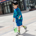 suit Blue black grey 110cm 120cm 130cm 140cm 150cm 160cm 170cm male summer motion Short sleeve + pants 2 pieces Thin money There are models in the real shooting Socket nothing other cotton children Giving presents at school Class B Cotton 100% Summer 2020 Chinese Mainland Zhejiang Province