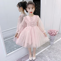 Dress Pink female Juzitige / orange tiger 110cm,120cm,130cm,140cm,150cm,160cm Polyester 100% spring Korean version Long sleeves Solid color polyester fiber Princess Dress wdtswtz2021020300000025 Class B Six, seven, eight, nine, ten, eleven, twelve Chinese Mainland Zhejiang Province