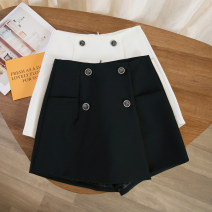 Casual pants Black, white S,M,L,XL Spring 2021 shorts Wide leg pants High waist commute routine 71% (inclusive) - 80% (inclusive) other Korean version Button