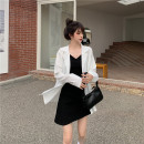 suit Summer 2021 Black suspender skirt, white suit, black suit Average size Long sleeves Medium length easy tailored collar Single breasted Versatile routine Solid color 25-29 years old 31% (inclusive) - 50% (inclusive) other Button, pocket