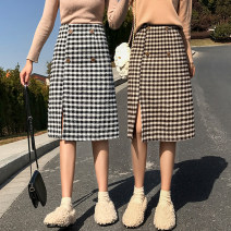 skirt Winter 2020 S M L XL 2XL Kagerhead Mid length dress Versatile High waist A-line skirt lattice Type A 18-24 years old 91% (inclusive) - 95% (inclusive) Carrie & jolly / Carly jolly polyester fiber Other polyester 95% 5% Pure e-commerce (online only)