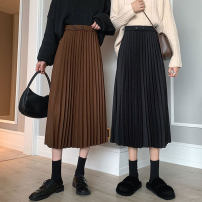 skirt Autumn 2020 XS S M L XL Black Brown Mid length dress commute High waist A-line skirt Solid color Type A 18-24 years old 1004-00014 91% (inclusive) - 95% (inclusive) Carrie & jolly / Carly jolly polyester fiber Other polyester 95% 5% Pure e-commerce (online only)