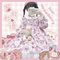 Lolita / soft girl / dress Lolita Dress Fenbaige L,M,S Summer, spring, autumn goods in stock Lolita, soft girl, sweet