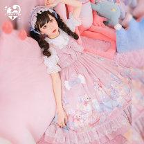 Lolita / soft girl / dress Cat ball line Candy dog jsk XS,S,M,L Summer, spring goods in stock Lolita, soft girl