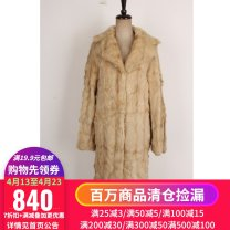 leather and fur Winter 2020 Other / other TM  8799 See detail page for dimensions have more cash than can be accounted for Long sleeves commute other routine other wool Retro 25-29 years old Button 96% and above