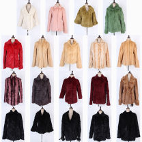 leather and fur Winter of 2019 Other / other routine Long sleeve commute routine other rabbit 's hair Korean version 18-24 years old 96% and above See detail page for dimensions