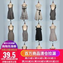Dress Fall 2017 See detail page for dimensions Short skirt singleton  Sleeveless Socket straps