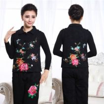 Vest Spring of 2019 Black, rose, red, green XL,2XL,3XL have cash less than that is registered in the accounts stand collar Original design Plants and flowers Single breasted other 71% (inclusive) - 80% (inclusive) cotton Embroidery, three dimensional decoration