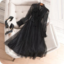 Wedding dress Spring 2021 black Korean version Chiffon Three dimensional cutting 25-35 years old Sleeved shawl