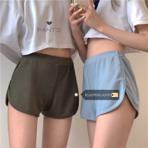 Casual pants White, green, blue, black, coffee Average size Summer 2021 shorts Straight pants low-waisted commute routine 18-24 years old 30% and below other Korean version