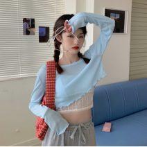 Fashion suit Summer 2021 Average size White lace sling, black lace sling, blue long sleeve, rose red long sleeve, black long sleeve 18-25 years old 30% and below