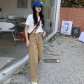 Jeans Spring 2021 khaki S,M,L trousers High waist Wide legged trousers routine 18-24 years old 30% and below