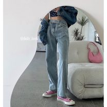 Jeans Summer 2021 Light blue jeans 9092, flower cardigan 11083, flower sling 11085 S,M,L trousers High waist Knickerbockers routine 18-24 years old washing other 30% and below