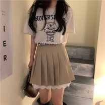 Fashion suit Summer 2021 S. M, average size T bear, skirt 18-25 years old 30% and below