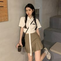Fashion suit Summer 2021 S. M, l, average size Shirt, skirt# 18-25 years old 30% and below