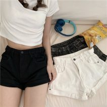 Jeans Summer 2021 Gray, white, black S,M,L shorts High waist Straight pants routine 18-24 years old 30% and below