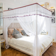 Mosquito net New England (22mm column) New England (25mm column) New England (32mm column) 1.2m (4 feet) bed 1.5m (5 feet) bed 1.8m (6 feet) bed 2.0m (6.6 feet) bed 1.8 * 2.2m bed Дворцовые сети 3 двери Unrestrained общий Нержавеющая сталь ziyiXTY04