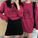 T-shirt Average size Spring 2021 Long sleeves Crew neck easy have cash less than that is registered in the accounts routine commute cotton 71% (inclusive) - 85% (inclusive) 18-24 years old Korean version classic Cartoon animation